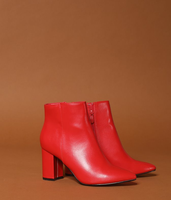 Bottines rouge