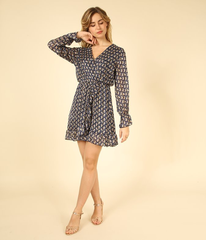 Robe à imprimé minimaliste