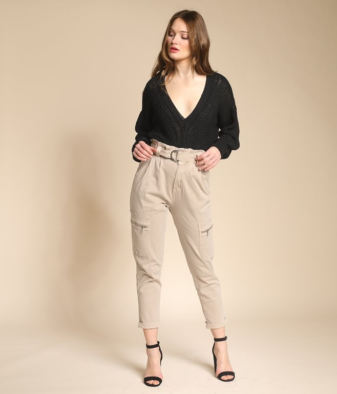Pantalon cargo à zips