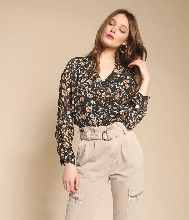 Chemise à imrpimé floral