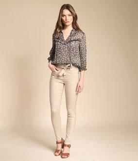 Pantalon ciré taille haute