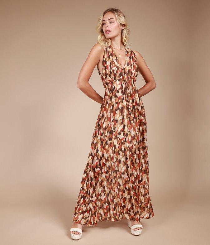 Robe longue à imprimé