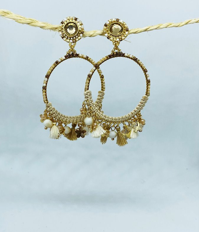 Boucles d'oreilles aciers perles