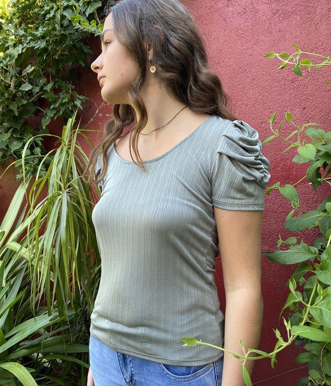 T-shirt côtelé Vicky