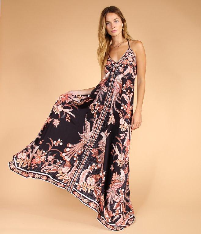 Robe longue à imprimé style bohème