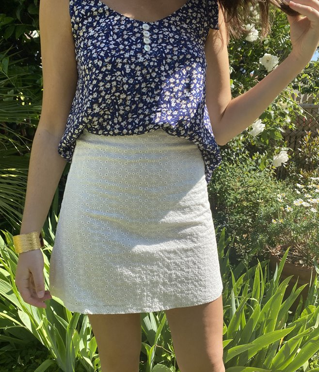 Jupe en broderie anglaise