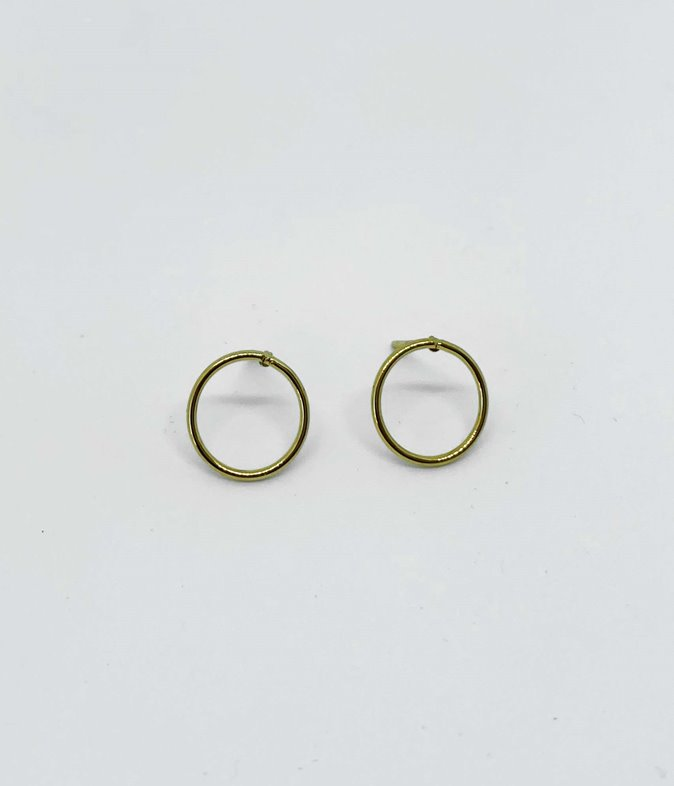 Boucles d'oreilles acier anneaux