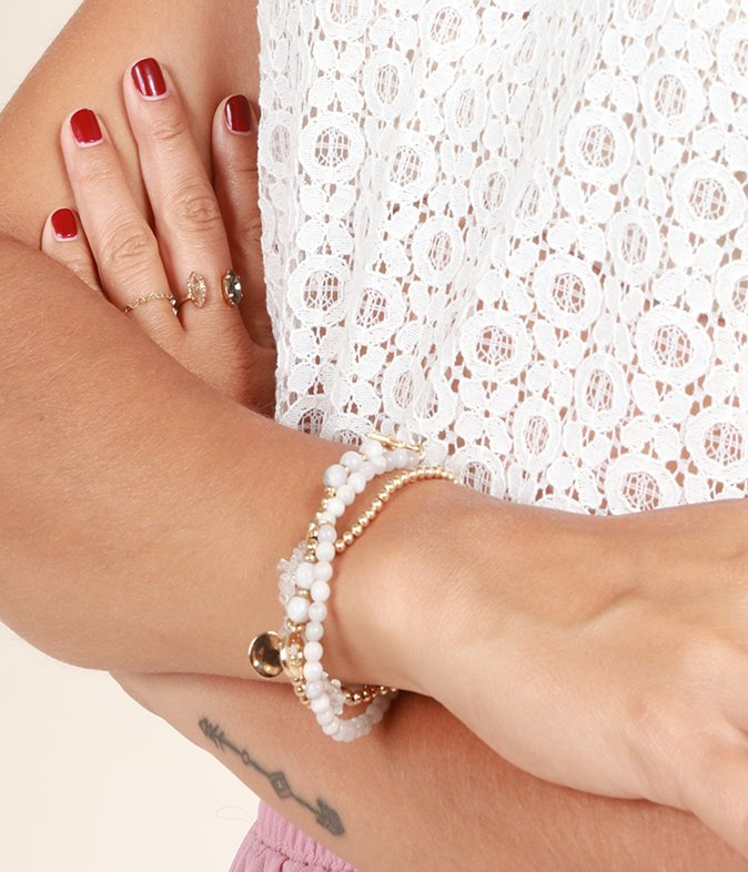 Bracelet triple starfish