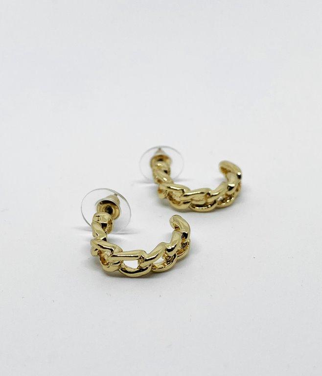 Boucles d'oreilles créoles chaînes