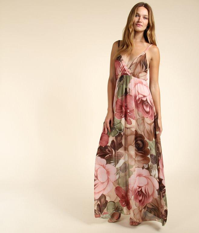 Robe longue à imprimé fleuri