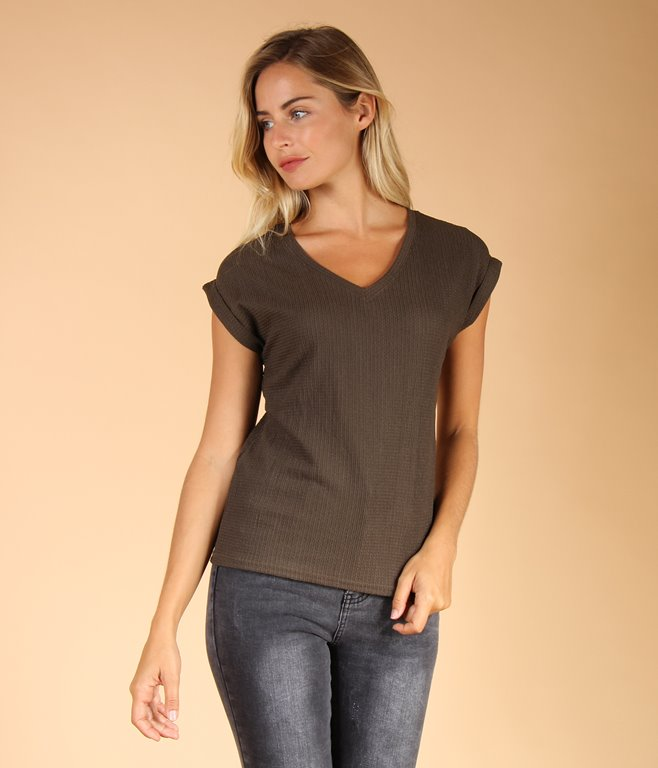 T-shirt avec dentelle au dos