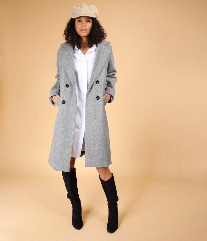 Manteau long à ceinture
