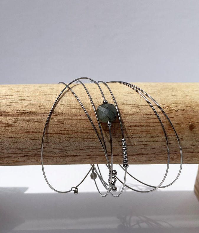 Bracelet semainier - acier inoxydable