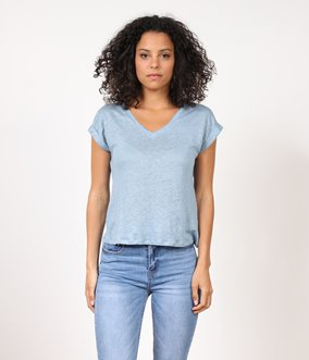 T-shirt effet lin