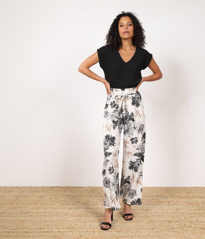 Pantalon large Aromy