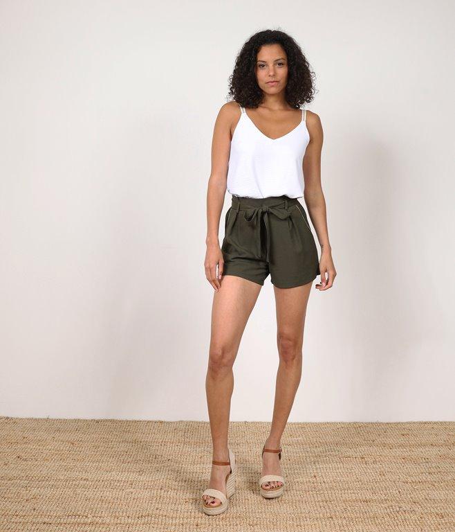 Short Taille Haute A Nouer
