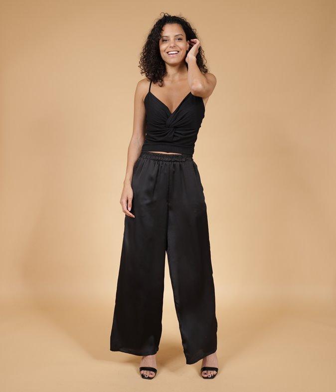 Pantalon En Satin Livie