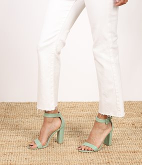 Sandales en simili effet croco