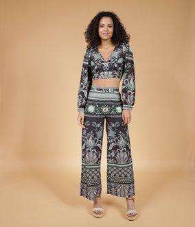 Pantalon Large Cachemire