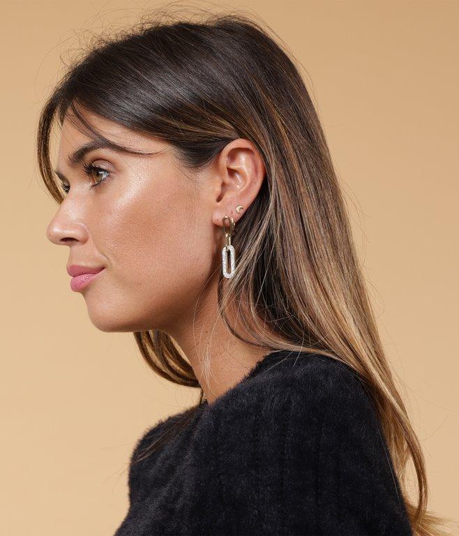 Boucles d'oreilles - acier inoxydable